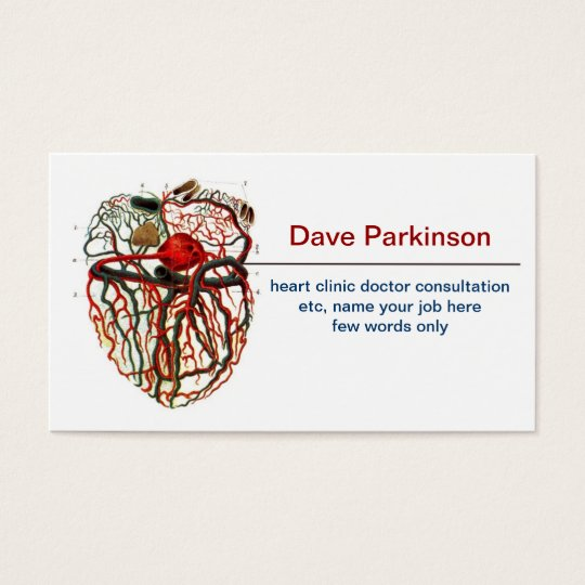 heart blood system business card