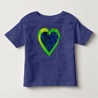 Heart Blue Girl's Valentine's Little Kid T-Shirt