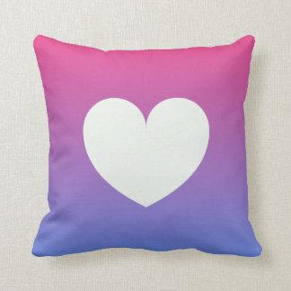 heart blue pink gradient cushion