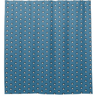 Heart Blue Shower Curtain