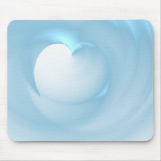 Heart Blue Soft Mouse Pad