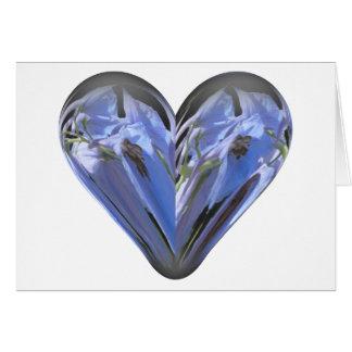 heart bluebell card