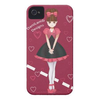 Heart Bolero Cute Anime Girl iPhone 4 Cases