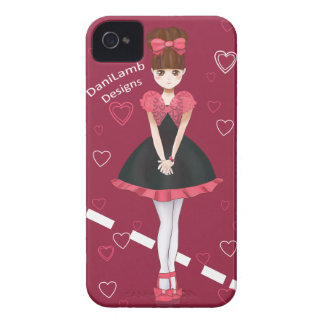Heart Bolero Cute Anime Girl iPhone 4 Case