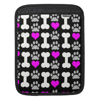 heart bone paw dog iPad sleeve