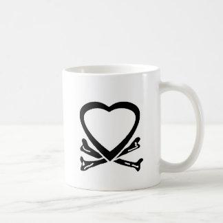 Heart & Bones Black The MUSEUM Zazzle Gifts Classic White Coffee Mug