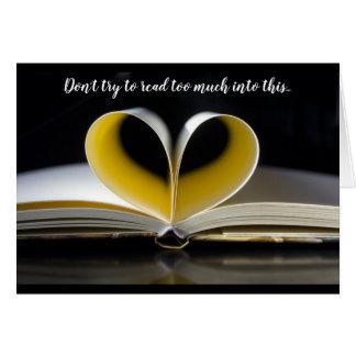 Heart Book of Love Card