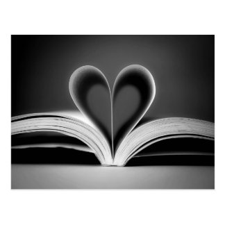 Heart Book Photography Postcard