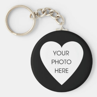Heart Border Keychain Template - Black