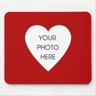 Heart Border Mousepad Template - Red
