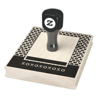 Heart Border xoxoxox Stamper Rubber Stamp