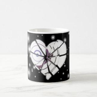 Heart borken in winter basic white mug