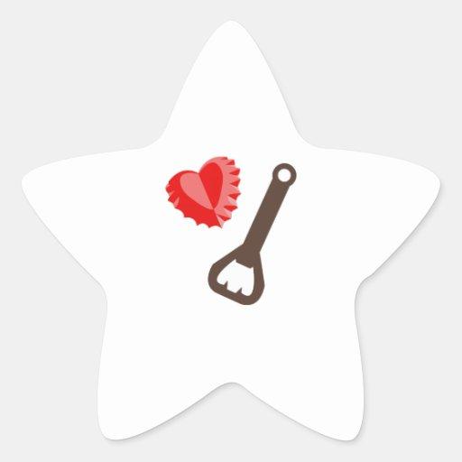 Heart Bottlecap Sticker