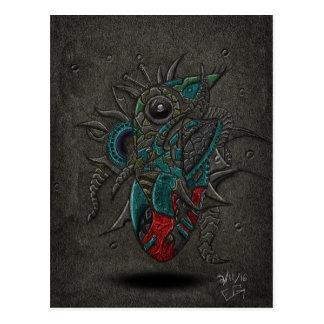 Heart Brain Eye Postcard