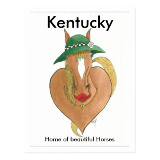 heart breaker, Kentucky, Home of beautiful Horses Postcard