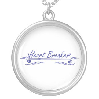 Heart Breaker Silver Plated Necklace