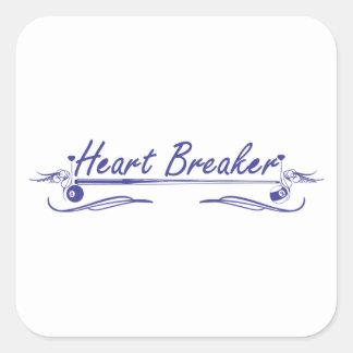 Heart Breaker Square Sticker