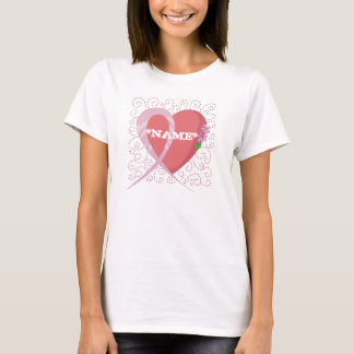 Heart Breast Cancer Customisable T-shirt