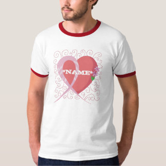 Heart Breast Cancer Customizable B... - Customized T-Shirt
