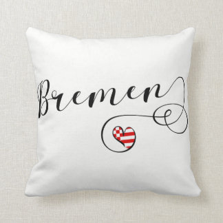 Heart Bremen Pillow, Germany Cushion