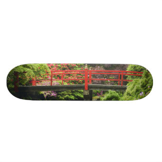 Heart Bridge with blossoming rhododendrons, 18.1 Cm Old School Skateboard Deck