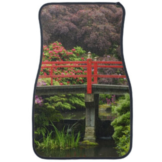 Heart Bridge with blossoming rhododendrons, Car Mat