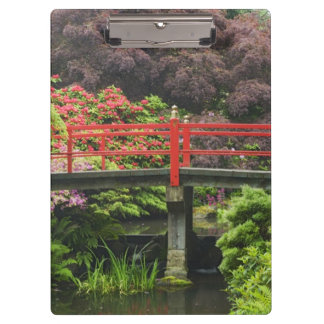 Heart Bridge with blossoming rhododendrons, Clipboard