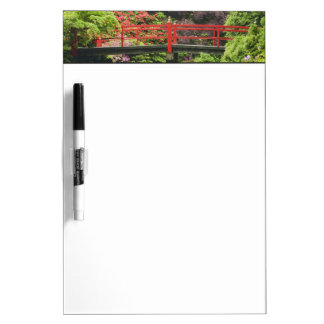 Heart Bridge with blossoming rhododendrons, Dry Erase Board