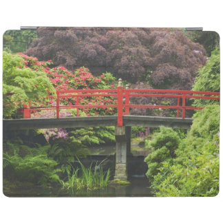 Heart Bridge with blossoming rhododendrons, iPad Cover