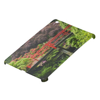 Heart Bridge with blossoming rhododendrons, iPad Mini Cover