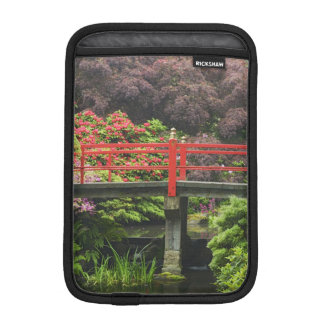 Heart Bridge with blossoming rhododendrons, iPad Mini Sleeve