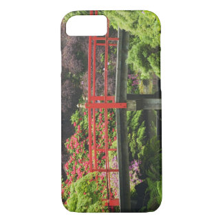 Heart Bridge with blossoming rhododendrons, iPhone 8/7 Case