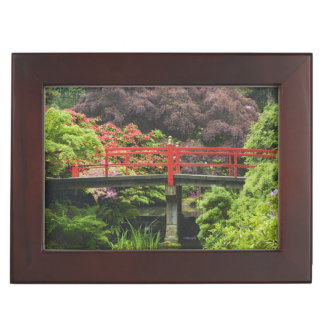 Heart Bridge with blossoming rhododendrons, Keepsake Box