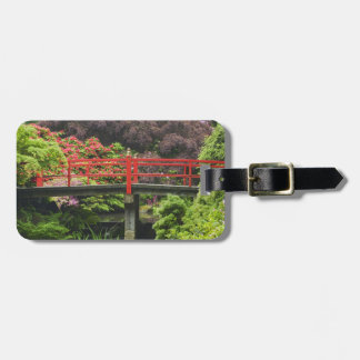 Heart Bridge with blossoming rhododendrons, Luggage Tag