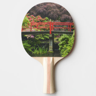 Heart Bridge with blossoming rhododendrons, Ping Pong Paddle