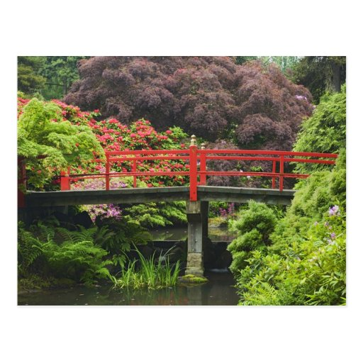 Heart Bridge with blossoming rhododendrons, Post Cards