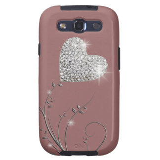 Heart brilliant lovely design galaxy SIII cases
