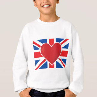 Heart British Flag Sweatshirt