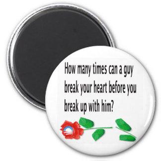 Heart Broken 6 Cm Round Magnet