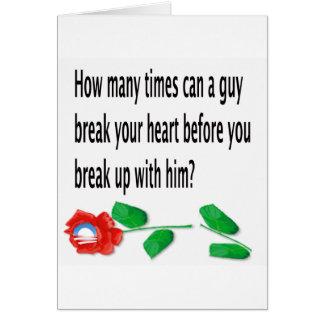 Heart Broken Greeting Card