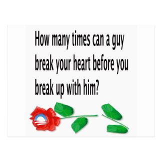 Heart Broken Postcard