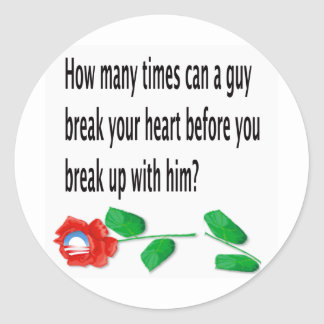 Heart Broken Round Sticker