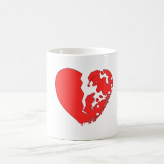 Heart Broken To Pieces. Designed on a mug