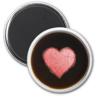 HEART BUBBLES by SHARON SHARPE 6 Cm Round Magnet