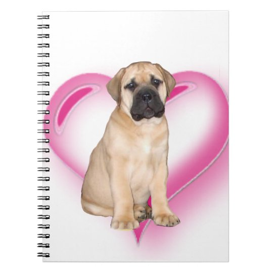 Heart Bullmastiff puppy Notebooks