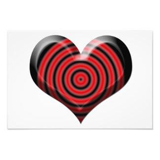 Heart Bullseye Art Photo