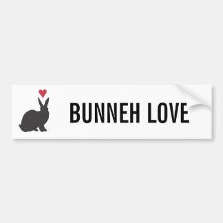 Heart Bunneh Bumper Sticker