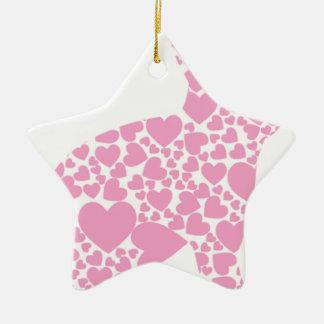 Heart Bunny Ceramic Star Decoration