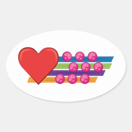 Heart & Buttons Sticker