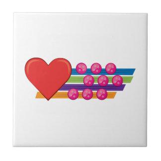 Heart & Buttons Tile
